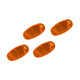 RFR CMPT Speichenreflektor Set orange